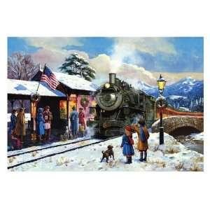 National Railroad Museum Winter Train Scene Christmas Card