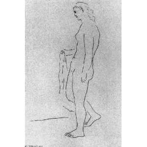 48 inches   Mujer desnuda de pie con una toalla Home & Kitchen