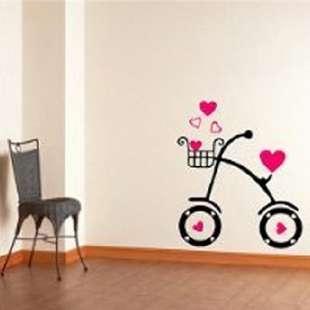 Love cycling Wall Art Decor Mural Sticker KIDS