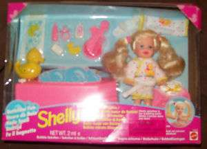 Shelly Baby Sister of Barbie Bathtime Fun MIB