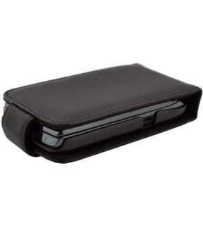 BlackBerry Torch 9800 Black Leather Case Cover Holder