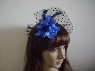 Feather Beaded Women Lady Hair Fascinators Clips Brooch Pin Headdress