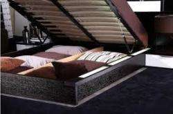 PLATFORM BED WITH BUILT IN NIGHTSTANDS AND AIR LIFT STORAGE**