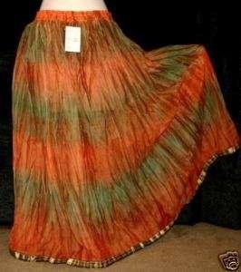 Hippie Dia De Los Muertos Gypsy Belly Dance Dancing Renaissance Skirt