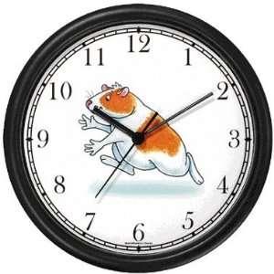 Guinea Pig Cartoon JP Wall Clock by WatchBuddy Timepieces (Black