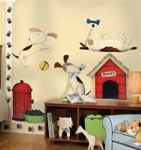 PUPPY DOGS WALL DECALS MURAL Dog Stickers Boys Room Decor Decorations