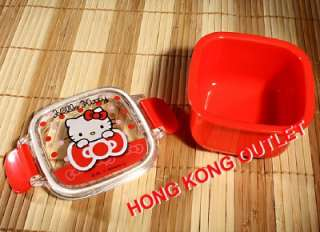Hello kitty Bento Lunch Snack Box Case Sanrio Japan Made F25a