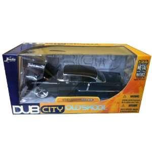 1:24 1955 Chevy Bel Air Black Dub City OldSkool: Toys