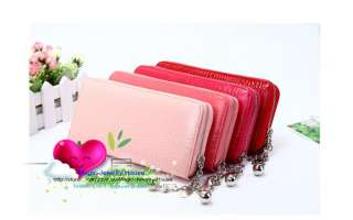 fashion 12 colors zip around lady women girls large clutch wallet