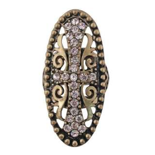 New Kirks Folly Easter Divine Faith Stretch Ring Oval