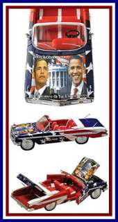 Obama Die Cast Collectible 1961 Chevy Car with C.O.A.