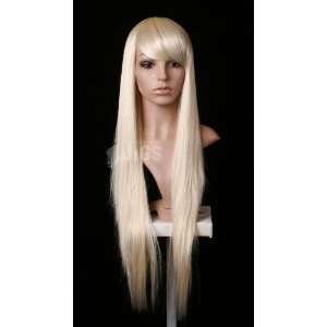 Extra Long Light Blonde Platinum Silver colour ladies wig