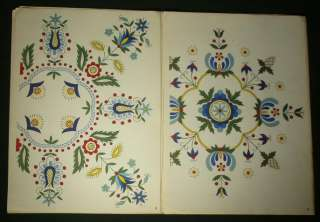 Embroidery Pattern Kaszuby folk art ethnic textile design Poland art