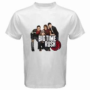 New Big Time Rush Band Mens White T Shirt Size S 3XL
