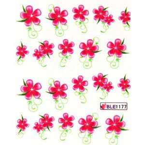 Deco Nail art water transfer decals hydroplaning nail stickers red