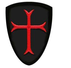 Crusaders Templar Knights Order Shield RED Cross Patch