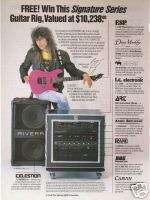 1989 Ad George Lynch Signature Series Guitar Rig Promo