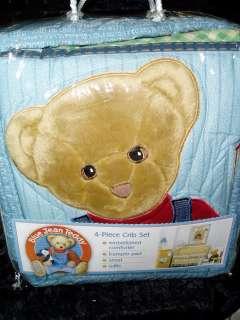 BLUE JEAN TEDDY BEAR BABY NURSERY BOY/GIRL CRIB SET