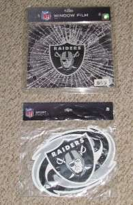Oakland Raiders NFL Car Window Film & Magnet ~ NEW