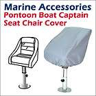 Waterproof Pontoon Captain Seat Covers 24(D) x 22(W) x 25 (H)  Grey