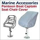 Waterproof Pontoon Captain Seat Covers 24(D) x 22(W) x 25 (H)  Grey