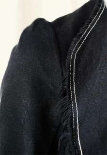 COMME DES GARCONS Black Denim Cutaway Jacket Coat S NEW