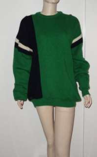 Vintage Blarney Castle Irish Wool 50s MINI Sweater Dress Kelly Green