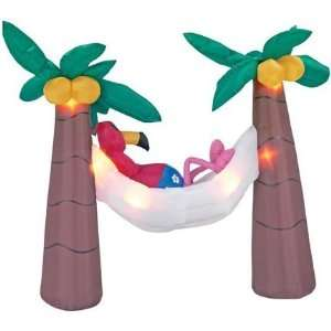 Flamingo with Palm Tree Airblown: Toys & Games