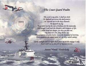 Coast Guard Psalm Poem Personalized Print Name Prayer