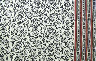 Hand Block Print, Cotton Fabric. Natural Dyes. 2½ Yards