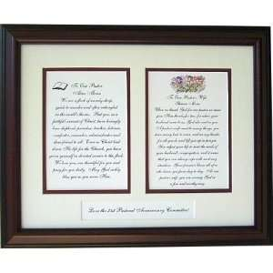 Pastor and Pastors wife personalized framed poems: Home