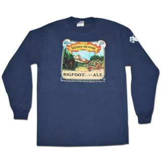 Sierra Nevada Bigfoot Ale Navy Blue Long Sleeve Graphic TShirt