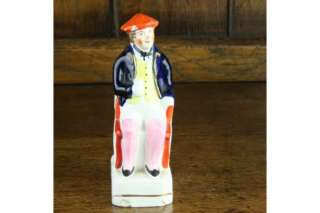 Staffordshire Pottery Antique Jolly Man Flatback Figure
