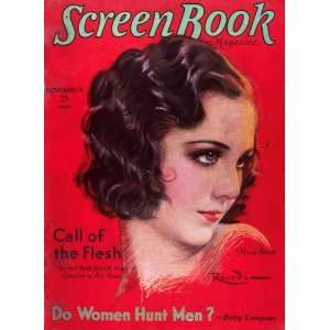 ) (1929) 11 x 17 Screen Book Magazine Cover 1930s