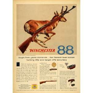 1956 Ad Winchester Model 88 Hunting Rifle Gun Bolt Deer