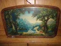 ORIGINAL R. ATKINSON FOX PRINT LOVES PARADISE ART DECO GESSO FLOWER