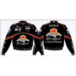 McMurray Crown Royal Black Twill Uniform Jacket   Jamie McMurray