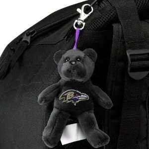 Baltimore Ravens Black Plush Bear Keychain