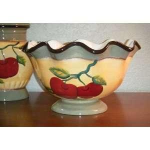Apple on Branch fruit/Salad Bowl, 11 3/4W Kitchen