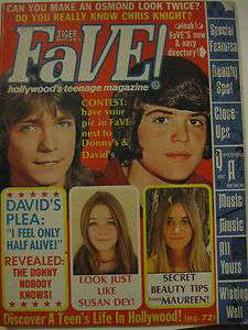 MAGAZINE DAVID CASSIDY PATRIDGE FAMILY OSMOND SUSAN DEY PIN UP