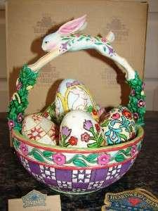 HEARTWOOD CREEK Jim Shore SPRINGTIME SURPRISES 2005 Easter BASKET Eggs