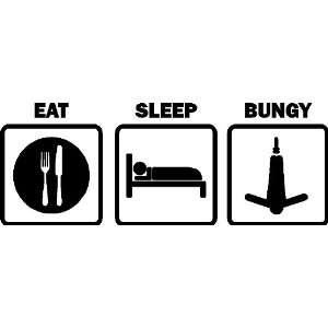 EAT SLEEP BUNGY CAR DECALS STICKERS BUNGY JUMPING VINYL