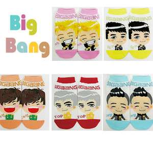 5Pairs BIGBANG Korean Super Star Character Socks[K POP]