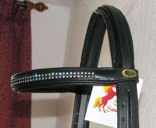 FSS Rhinestone Crystal CLEAR SUPER BLING Comfort BRIDLE with SWAROVSKI