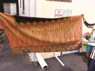 Antique Victorian Piano Shawl Paisley