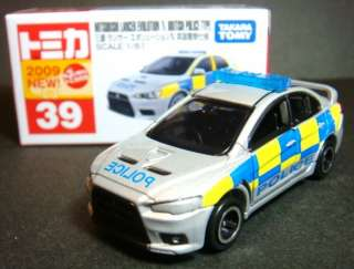 TOMICA MITSUBISHI LANCER EVOLUTION X BRITISH POLICE CAR
