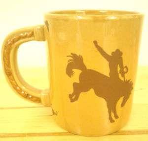 Rodeo Bucking Bronco Horse Cowboy Western Coffee Mug