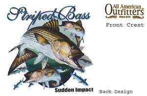 Striped Bass, Sudden Impact, Fishing T Shirt