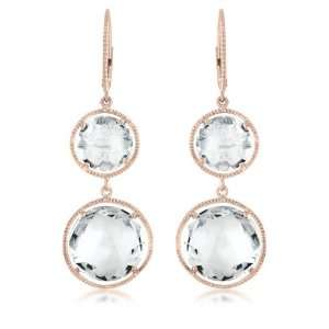 Rock Candy A Radiant, Faceted Clear White Topaz Stone, Rose