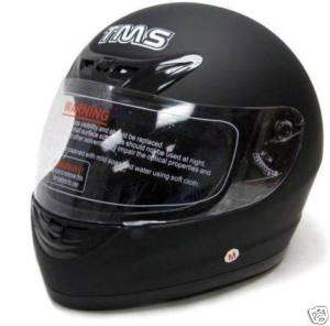 FLAT MATTE BLACK FULL FACE MOTORCYCLE HELMET STREET ~L